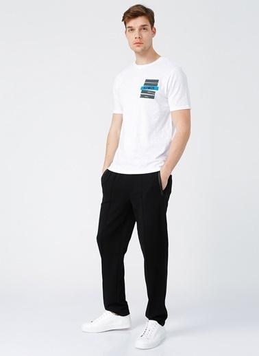 NetWork Network Erkek Beyaz Bisiklet Yaka T-Shirt Beyaz